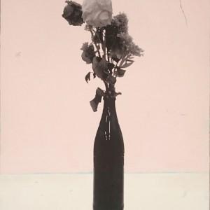 2015, Öl, s/w-Kopie auf Leinwand, 50 x 37 cm Frank Moll